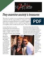 They Examine Society's Treasures-Aapj-April 2011