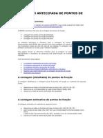 CONTAGEM ANTECIPADA DE PONTOS DE FUNÇÃO (Nesma)