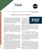 Hubble Facts Hubble's New Solar Arrays