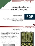 Metal NanoparticleCarbon Nanotube Catalysts