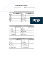 Numbering System Exercise-1