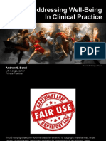 Addressing Well-Being in Clinical Practice