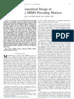 Precoding Matrices (3)