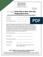 NYC 8th Grade Field Trip Registration Form 10-11