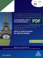 Congrèe International de Mécanique de Sol Et de Géotechnique
