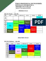 HORARIOS 2011-1B PUBLICAR