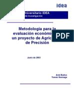 Agricultura Precision y Evaluacion Proyectos