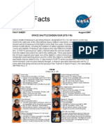 NASA Facts Space Shuttle Endeavour STS-118
