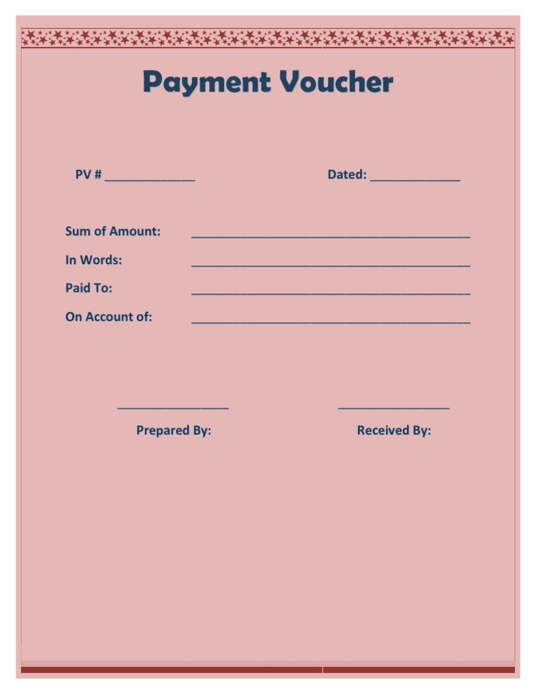 Sample Payment Voucher Template
