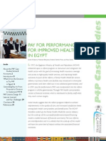 Pay for Performance for Improved Health in Egypt (2010)