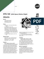 Nasa Facts STS-122