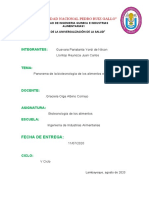 Panorama de La Biotecnologia de Los Alimentos en El Peru