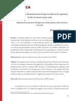 Trajetórias administrativas dos governadores da capitania do Rio de Janeiro (1710-1763)