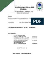 INFORME DE CAMPO VIAJE OXAPAMPA