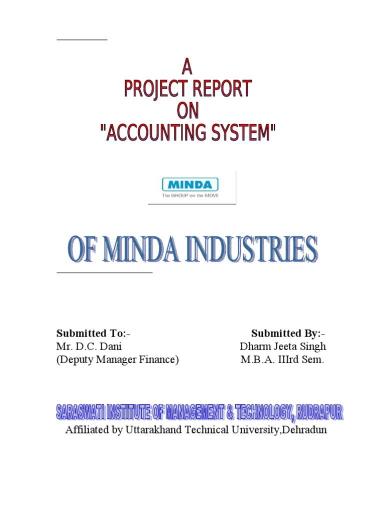 PROJECT_REPORT_ON_ACCOUNTING_SYSTEM | Financial Statement | Balance Sheet
