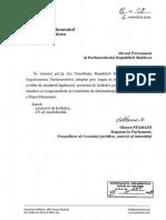 hotărârea Parlamentului privind numirea lui Lemne la CNPF