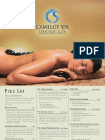 Click to Open Camelot Spa Treatment Guide
