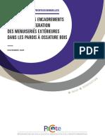 PACTE - Encadrements de Baies Dans Parois à Ossature Bois