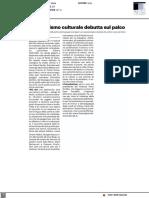 Il giornalismo culturale debutta sul palco - Il Resto del Carlino del 6 ottobre 2021