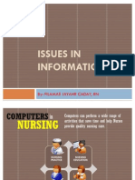 ISSUES IN INFORMATICS and NURSING INITIATIVES