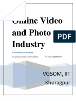 Ecommerce Report on online Video Industry by Anuj Pratap Yadav & Ved Pal