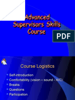Advanced Supervisory Skills