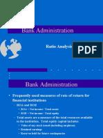 Bank administration--ratios