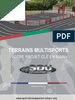 Catalogue Terrain Multisports Sport développement Urbain