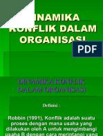 Dinamika Konflik Dalam Organisasi