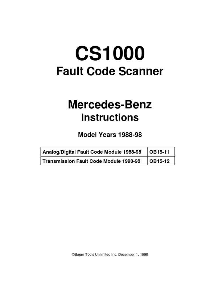 Mercedes-Benz Fault Codes | Electrical Connector | Anti Lock