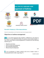 Asthma CPG summary card
