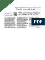 Piazzale Lavater, supermulta per i volantini contro i box - Corriere della Sera, 15 aprile 2011
