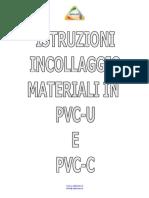 Istruzioni Incollaggio PVC e PVC C