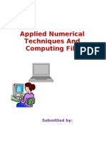 Applied Numerical Technique Lab Mannual