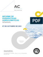 Perspectivas Agroclimáticas  07/10/2021.