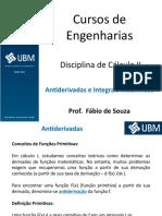 Aula 031___Disciplina de Calculo II__Antiderivadas e Integrais Indefinidas