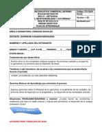 Guía No 9 DE APRENDIZAJE DE CENCIAS SOCIALES CICLO #2  DAWRISON CASARAN