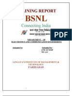 Bsnl Training Report