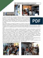 Compte Rendu Sortie Pedagogique 2014