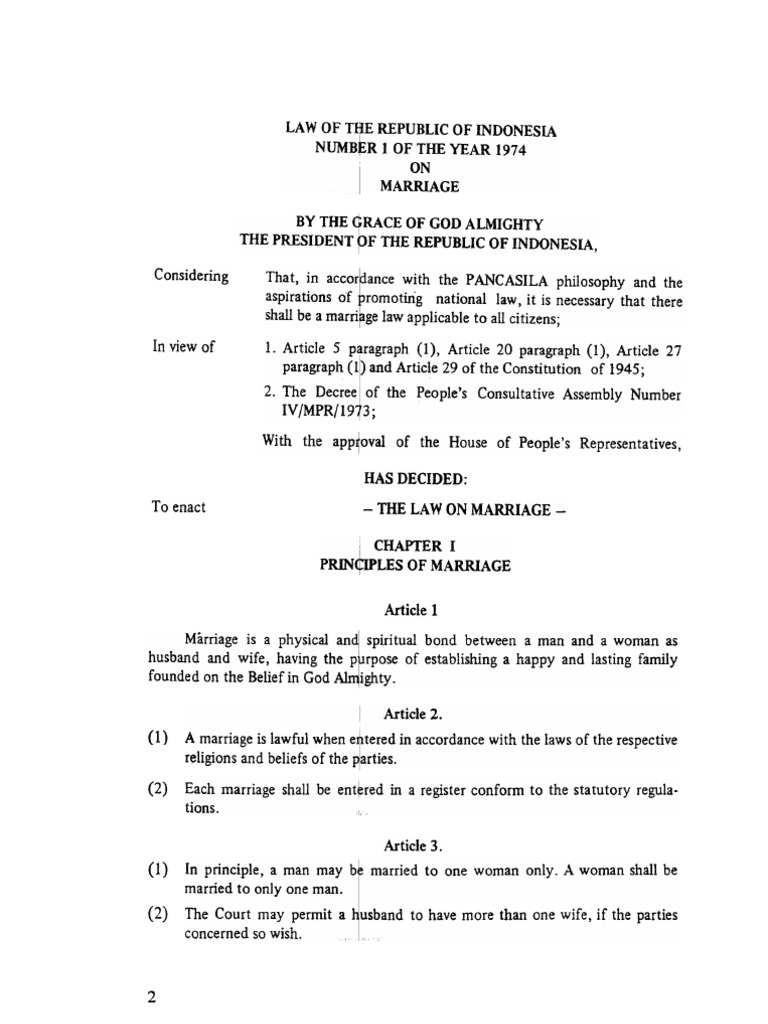 law no 1 of 1974 on marriage pdf