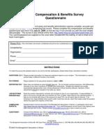 2009 compensation & benefits survey questionnaire