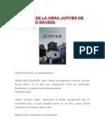 RESUMEN DE LA OBRA JÚPITER DE FRANCISCO GAVIDIA