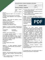 ATIVIDADE - AVALIAÇÃO BIMESTRAL 3º BIMESTRE