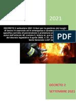 Decreto Antincendio 2 Settembre 2021