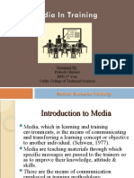 Media in Training