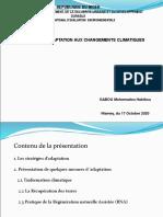 Conference sur Changement  climatiuque_