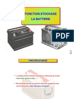 26 Fonction stockage La batterie
