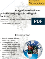 Two component system as drug targets in pathogenic bacteria