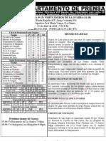 REPORTE 26 GUAROS-BUCANEROS JUEGO #1 LA GUAIRA