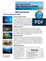 Cayman Islands Marine Research News - 25 Years of Marine Parks